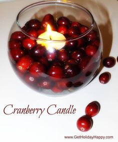 Cranberry Candle.