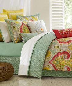 """ECHO Jaipur - Queen comforter set (Oversized comforter 92""""x96"""", 2 standard shams, and a bedskirt). ($200.00)"""