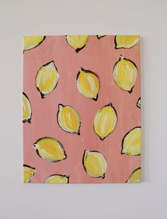 Lemon Happy Lemon Happy 16 X 20 In Impressionistic Acrylic Canvas Painting Excited To Share This Item From My Etsy Shop Lemon Happy Art Painting Pink Yellow Unframed Lemon Edenmichelleart Whimsy Simple Canvas Paintings, Easy Canvas Art, Small Canvas Art, Easy Canvas Painting, Mini Canvas Art, Cute Paintings, Acrylic Canvas, Diy Canvas, Diy Painting