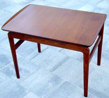 Vintage DANISH MODERN MID-CENTURY Teak LAMP SIDE END TABLE / Eames VODDER Juhl