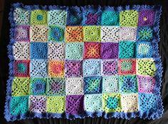 Ravelry: rosemaryjayne's scrap yarn baby blanket