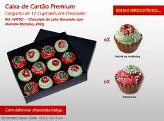 ¡Disfrute de nuestros cupcakes especiales para Navidad! Chocolate Belga, Cupcakes, Holiday Decor, Raspberry Bush, Bonbon, Candy, Xmas, Cupcake Cakes, Cup Cakes