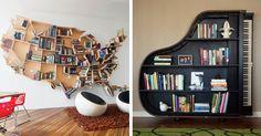 Creative Bookshelves for Home :)