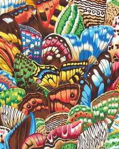 Natural World - Butterfly Wings - Dk Brown - A possible One Block Wonder quilt????