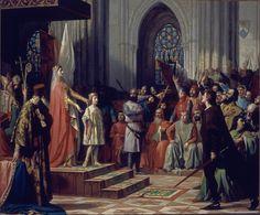 María de Molina presentando a su hijo Fernando IV antes las Cortes de Castilla