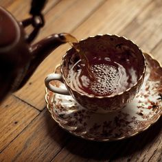 Delicate Teacup and Robust Tea make for a lovely afternoon.