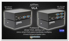 Linha de Splitters VGA da Manhattan na Angular Cabos. Excelentes produtos.