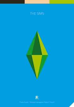The Sims - Minimal Videogame Posters Project by Frank Russo