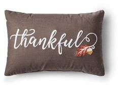 Threshold Brown Thankful Lumbar Throw Pillow #Affiliate Link