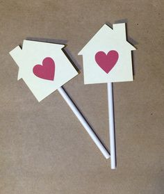 Housewarming Party Cupcake Toppers, Set of 12 House Cupcake Toppers, Home Sweet Home Party by BeeYouDesigns on Etsy https://www.etsy.com/listing/276027720/housewarming-party-cupcake-toppers-set