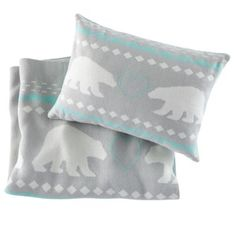 Polar Blanket & Pillow Set  | The Land of Nod  | The ultimate chilly weather gift for kids