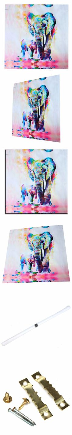 Unframed Canvas Prints Wall Paintings Modern Home Decor Abstract Wall Art Picture Animal Elephant Bedroom Livingroom Setting $14.19