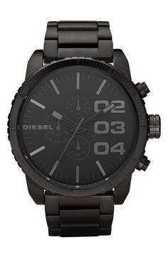 DIESEL® Large Round Chronograph Bracelet Watch