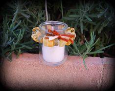 anello di pasta di vetro awound candela votiva