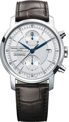 Baume et Mercier Classima Executive Bulova Watches, Dream Watches, Luxury Watches, Cool Watches, Watches For Men, Baume Mercier, Bracelet Cuir, Stainless Steel Bracelet, Moda Masculina
