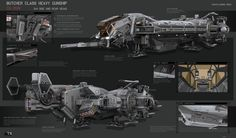 concept ships: Butcher Class Heavy Gunship by KaranaK
