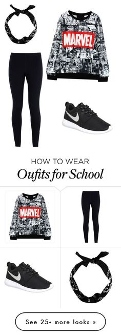 """School"" by elizabeth-ann-paige-kuhn on Polyvore featuring NIKE, women's clothing, women, female, woman, misses and juniors"
