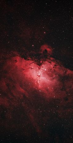 Universe Astronomy The Eagle Nebula by Trevor Jones (AstroBackyard) - The Eagle Nebula is a stunning deep-sky object photographed by many DSLR astrophotography imagers. This photo is a 2 hour long exposure through a telescope. Eagle Nebula, Orion Nebula, Andromeda Galaxy, Wallpaper Space, Red Wallpaper, Galaxy Wallpaper, Moon And Stars Wallpaper, Starry Night Wallpaper, Nebula Wallpaper