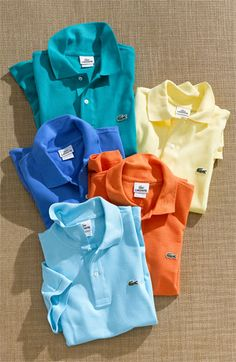 Lacoste polo for guys.