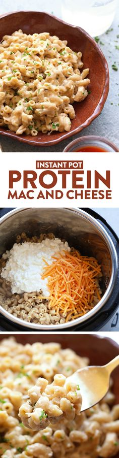 Kitchen Hack: Instant Pot Protein Mac and Cheese - Fit Foodie Finds Instant Pot Pasta Recipe, Best Instant Pot Recipe, Pressure Cooking Recipes, Slow Cooker Recipes, Instant Pot Pressure Cooker, Mac And Cheese, Cheddar Cheese, Vegetarian Recipes, Dinner Recipes