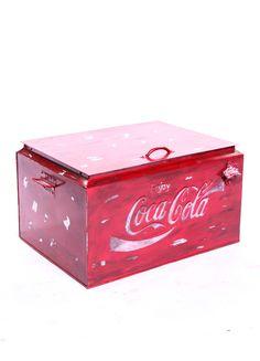 Vintage style coca cola cooler.