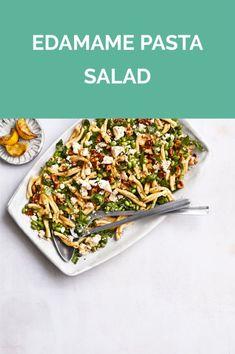 Get the recipe for Edamame Pasta Salad. Entree Recipes, Veggie Recipes, Vegetarian Recipes, Healthy Recipes, Real Simple Recipes, Clean Recipes, Edamame Pasta, Lotsa Pasta, Savory Salads