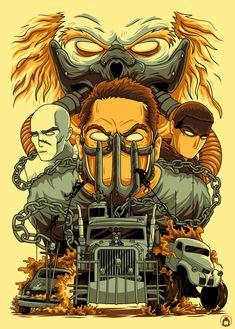 Mad Max: Fury Road - Created by Angga Tantama Mad Max Fury Road, Movie Poster Art, Film Posters, Mad Max Tattoo, Mad Max Poster, Illustrations, Illustration Art, Mad Movies, Imperator Furiosa