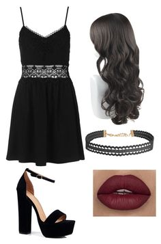 """""""dark awesomeness"""" by mayaandrews88 on Polyvore featuring Topshop, Boohoo and Humble Chic"""