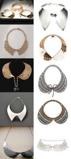 Selections of collar necklaces