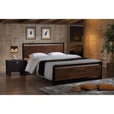 Beige,Brown,Wood,(400,600),King,Queen Beds: Transform the look of your bedroom by updating possibly the most important furniture in the space, letting you create a grand feel or a serene retreat. Free Shipping on orders over $45!