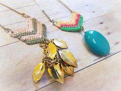 Crochet Chevron Jewelry... ♥ By Two Butterflies