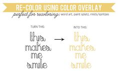 How to RECOLOR using Color Overlay.  Scrapbooking Photoshop Tutorial