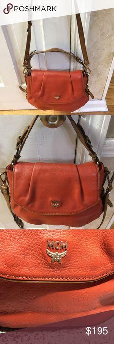 61bcd1225255 MCM All-Leather Shoulder Handbag MCM All-Leather Shoulder Handbag.  Removable shoulder strap
