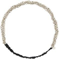 Maison Michel Doris twisted chain headband ($290) ❤ liked on Polyvore