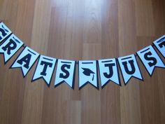 Handmade/Customized Graduation Banner by ReginesPartyBoutique