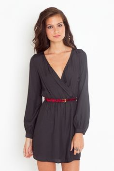 Love this simple dress with a flash of red $40.60