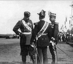 Tsar Alexander lll of Russia with officers in 1890.A♥W