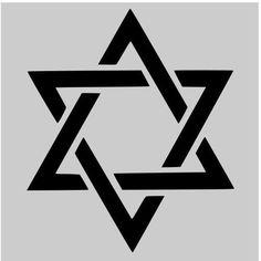 "STAR OF DAVID stencil stars stencils template celestial templates pattern background new craft 8"" X 10"""