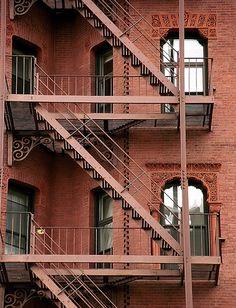 """Boston - Newbury Street """"Fire Escapes"""