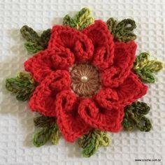 Flor coração passo a passo - croche.com (88)