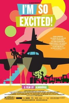 I'M SO EXCITED -2013- Orig 27x40 D/S movie poster- Spanish Indy Film -HUGO SILVA