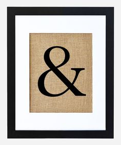 Love this Ampersand Framed Burlap Print by Fiber and Water on #zulily! #zulilyfinds