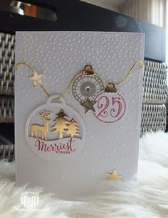 Magical Scrapworld, Merriest wishes, cards, softly falling, Stampin' Up!