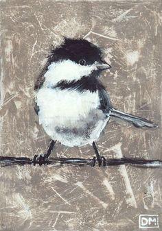 "Diana Mulder, ""Lil' Birdie"", acrylic on masonite"