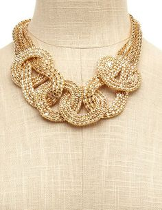 Knotted Mesh Tube Necklace: Charlotte Russe. Also on it's way to me.