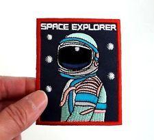 SPACE EXPLORER NASA SEW / IRON ON PATCH APPLIQUE VINTAGE BADGE DIY SHIRT CAP