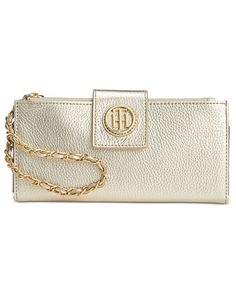 Tommy Hilfiger Leather Chain Wristlet Wallet