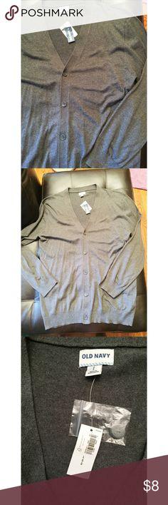 Old Navy Mens Button Down Cardigan Grey v-neck cardigan. NWT Old Navy Sweaters Cardigan