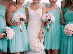 mint bridesmaid dresses http://www.weddingchicks.com/2013/09/04/gold-and-mint-wedding-ideas/