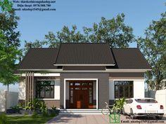 Modern Bungalow House Plans, 3d House Plans, Modern Exterior House Designs, Model House Plan, Bungalow House Design, Small House Plans, Exterior Design, House Window Design, Small House Design